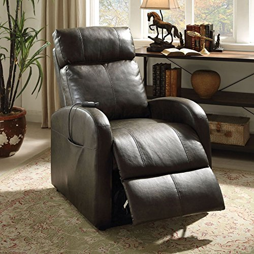 ACME Furniture 59405 Ricardo Recliner with Power Lift, Da...