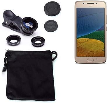 K-S-Trade 3in1 para Motorola Moto G5 Plus Obiettivo Lente 180 ...