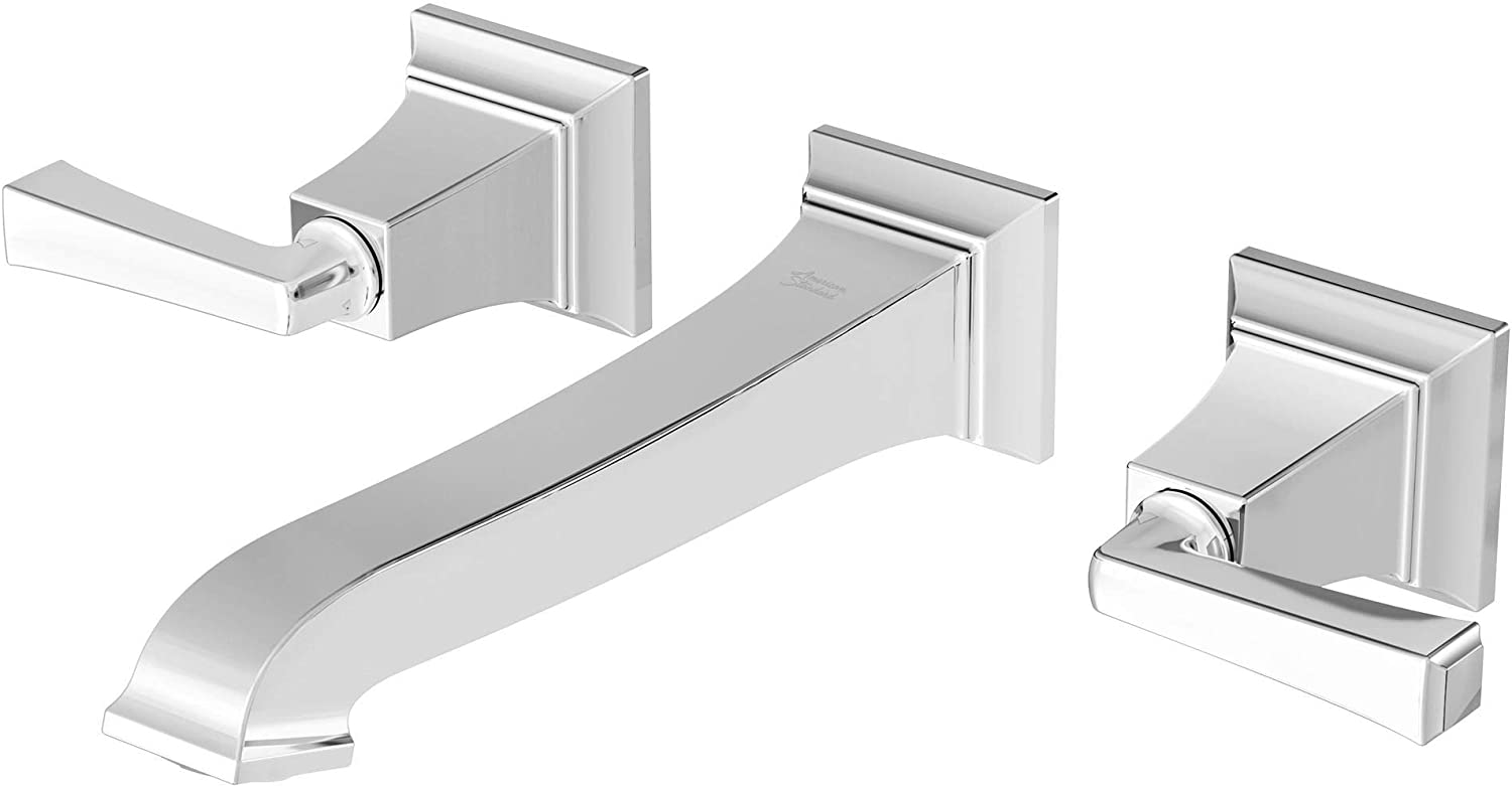 American Standard 7455451.295 Town Square S Two-Handle Wall Mount Faucet Brushed Nickel