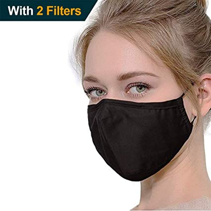 e35f415bb75 Amazon.com  Unisex Adult Dust Mask ,Five Ply Activated Carbon Cotton Warm  Fashion Health Cycling Anti-Pollution Cotton Mouth Face Mask  Respirator,Black ...