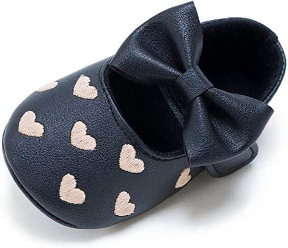 Girl Toddler Princess Newborn Bowknot Anti-slip Baby Crib Shoes Prewalker