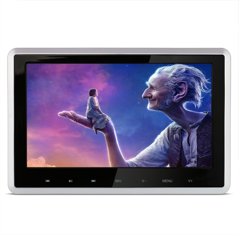 DDAUTO DD101HD Headrest DVD Player 10.1 Inch 1080P HD Digital TFT Screen Touch Keys Monitor Multimedia Choices Supports HDMI, USB SD card with Complete Accessories