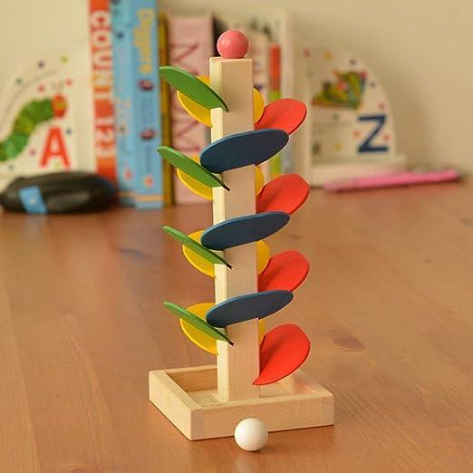 Arbre en bois unique feuilles blocs Marble billes Run jeu Toy piste pour b/éb/é Enfants enfants Intelligence jouet /éducatif
