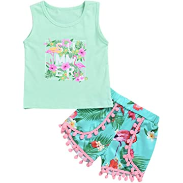 70de4d7d160 Top Rated • Lowest Price. Mikrdoo Toddler Girl Summer Clothes Vest Tops  Tassels Shorts ...