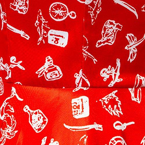 VKStar - Vestido - para mujer Rojo