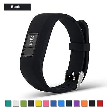 Bemodst Correa Strap para Reloj Garmin Vivofit 3, Pulsera de Silicona Brazalete de Reemplazo Banda de Repuesto para Hombre Mujer (Negro): Amazon.es: ...