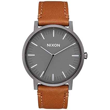 Nixon Porter Leather A1058. 100m Water Resistant Men's Watch (20 18mm Leather Band And 40mm Watch Face) by Nixon