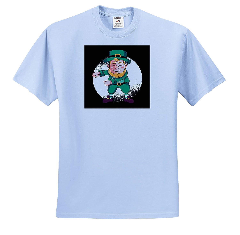 Happy St.Patricks Day with Dab Dabbing Leprechaun T-Shirts 3dRose Sven Herkenrath St.Patricks Day
