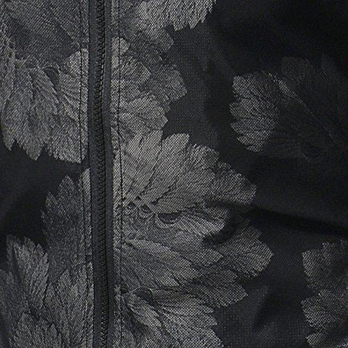 Camicia collare Uomini E Autunno Camicia Giacca La Casual Inverno Lunghe In Informale Maniche A Astratta Stampa Stand qwAwfTa
