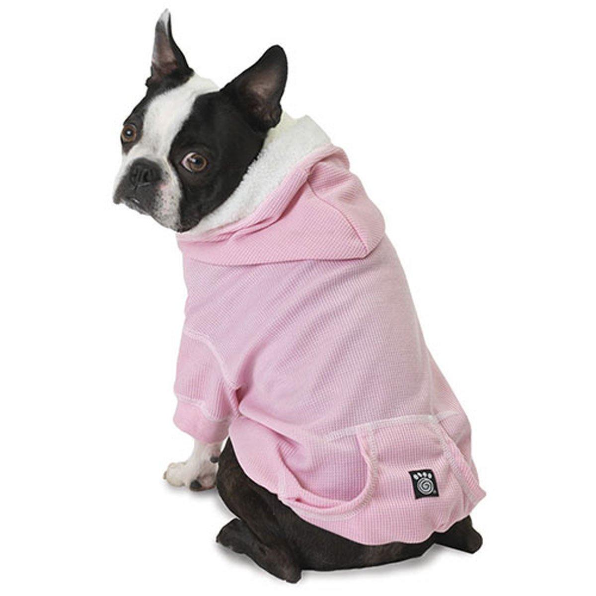 Bentley's Fur Trimmed Pink Dog Hoodie - Small