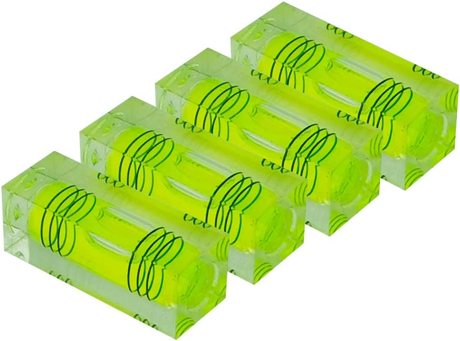 XMLEI high precision mini leveling bubble mini leveling bubble three line flat bead leveler level ruler household level instrument (green)