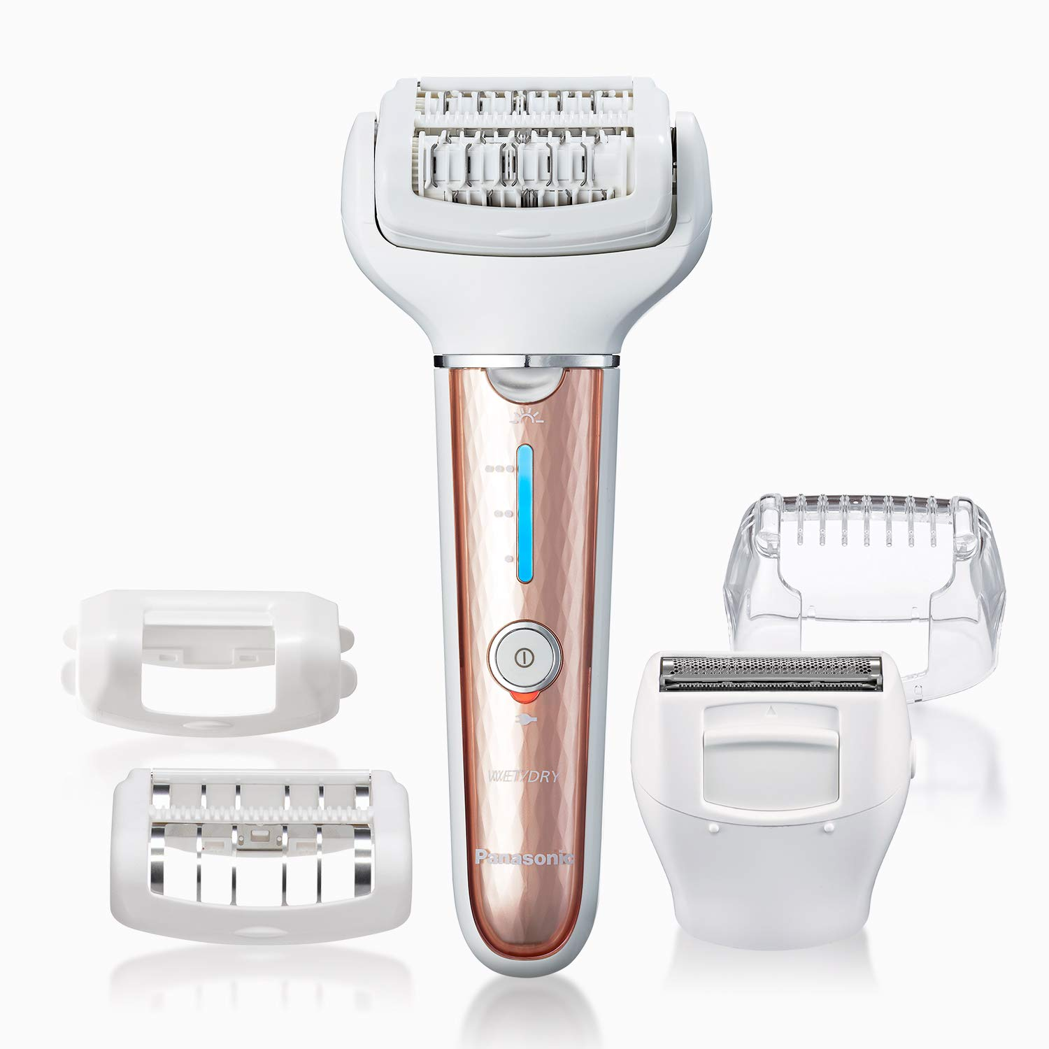 Panasonic Cordless Versatile Wet/Dry Shaver & Epilator For Women With 5 Attachments, Gentle Hair Removal for Women's Legs, Arms, Bikini - ES-EL7A-P (Pink)