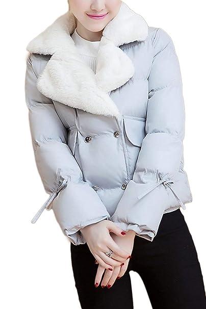 Abrigos Mujer Cortos Elegante Invierno Ropa Espesar Termica Piel Sintética Outerwear Transición Casuales Fashion Manga Largo