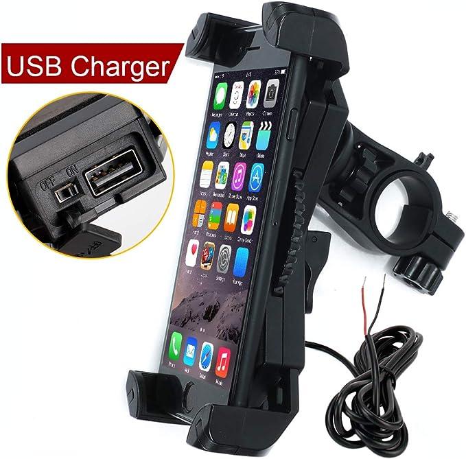 Soporte de teléfono de Motocicleta con Puerto de Carga USB ...
