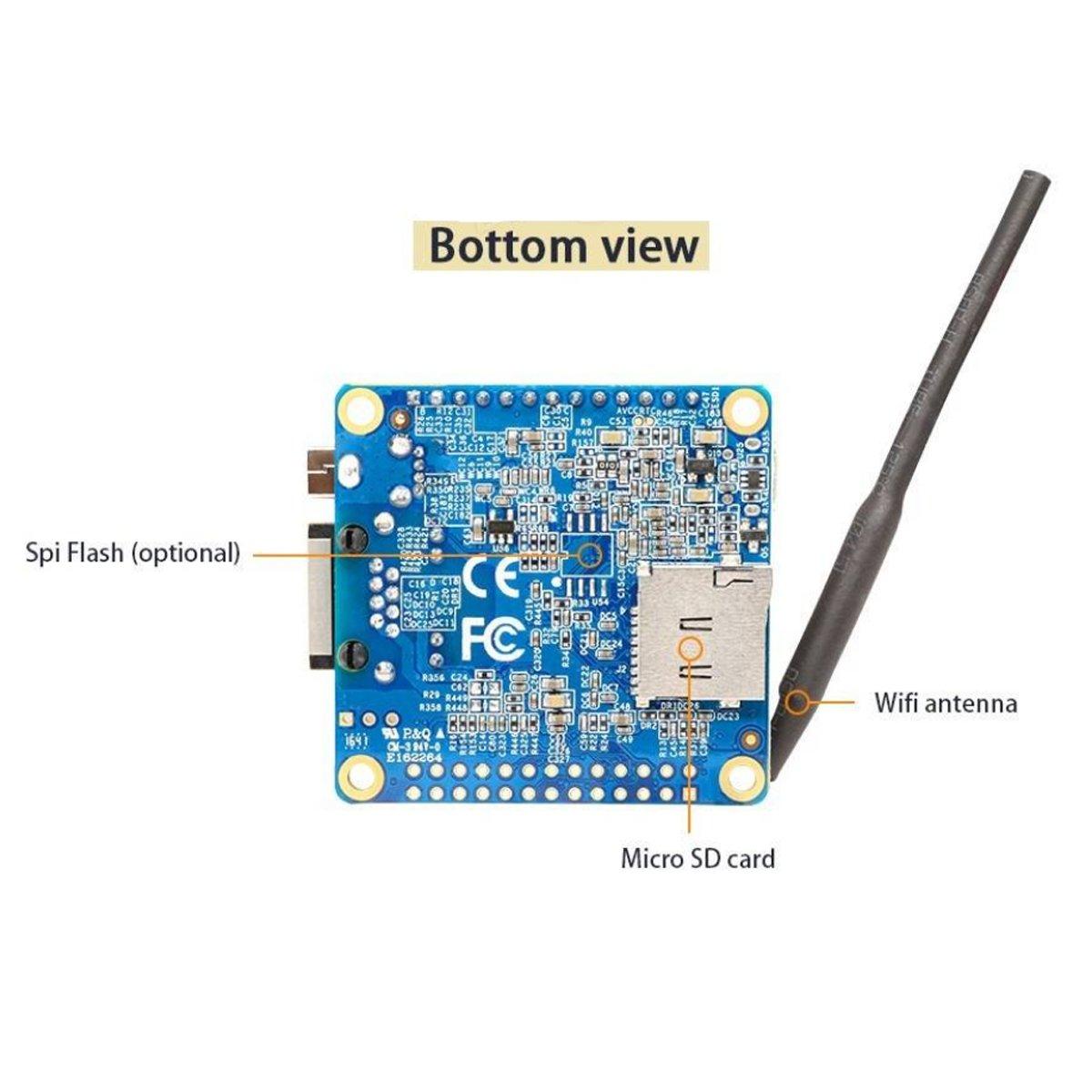 Makerfocus Orange Pi Zero H2 Quad Core Open-source 256MB Development Board with Wifi Antenna by MakerFocus (Image #5)