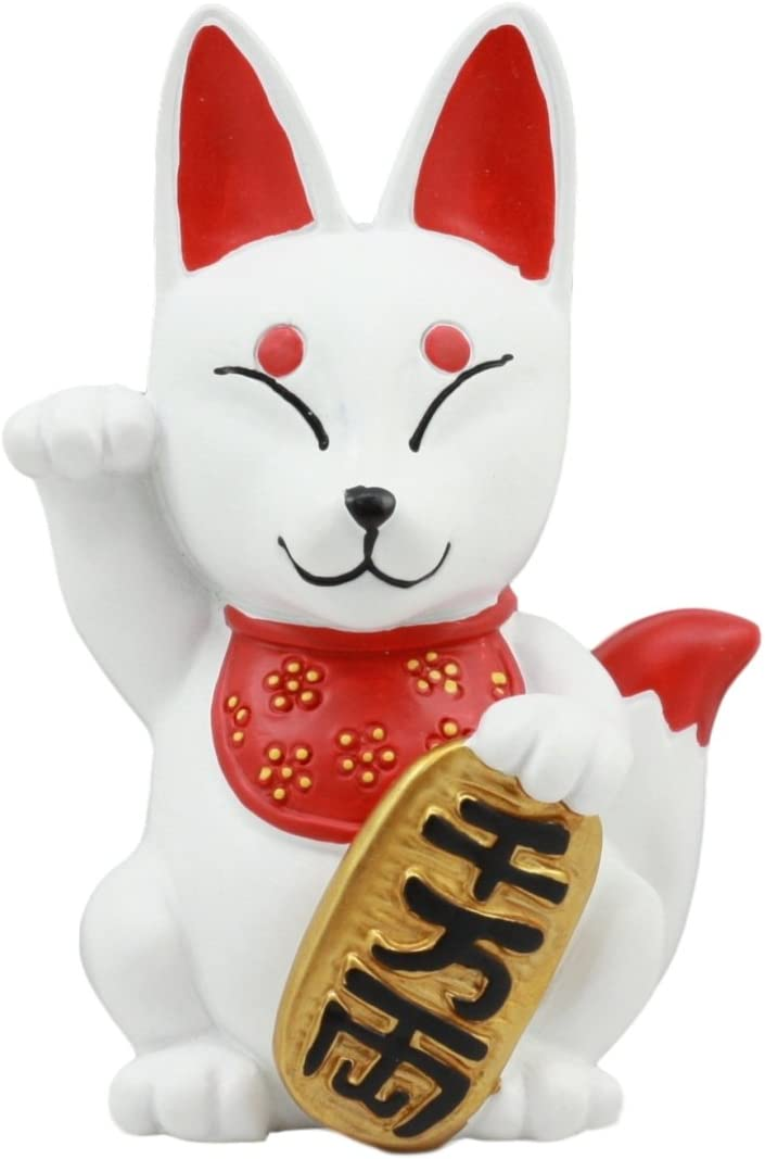Gifts & Decor Ebros Japanese Maneki Kitsune Fox Charm Statue 4.5