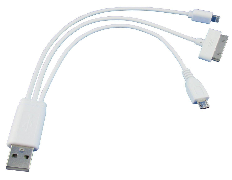 COM-PAD 3-IN-1 Multi-USB-Ladekabel mit Mikro USB, SET: Amazon.de ...