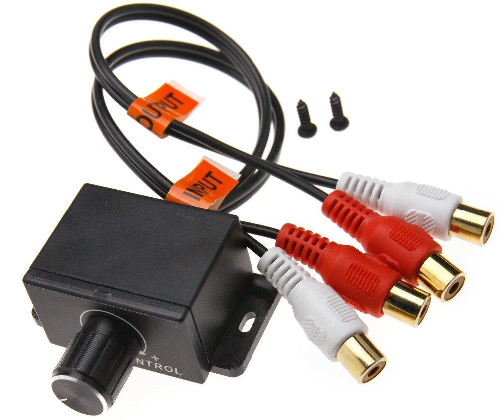 EX1 Auto Stereo Amplificatore Livello di Guadagno Basso Audio Volume Controllo Pomello con 2 RCA Connettore