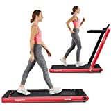 Goplus 2 in 1 Folding Treadmill, 2.25HP Under Desk Electric Treadmill, Installation-Free with Bluetooth Speaker, Remote…
