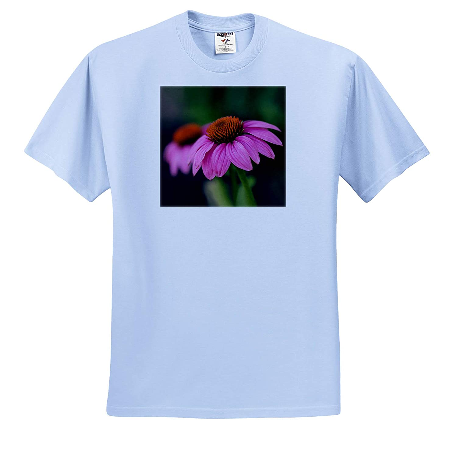 ts/_315550 3dRose Stamp City - Adult T-Shirt XL Flowers A Macro Photograph of a Pair of Pink coneflowers