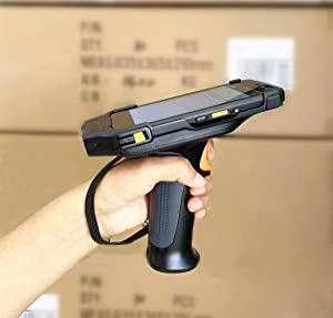 "Upgraded 4G LTE Android Barcode Scanner Pistol Grip Handheld Mobile Computer 5"" Touch Screen with Honeywell N6603 1D 2D Code Reader NFC GPS WiFi for Enterprise WMS"