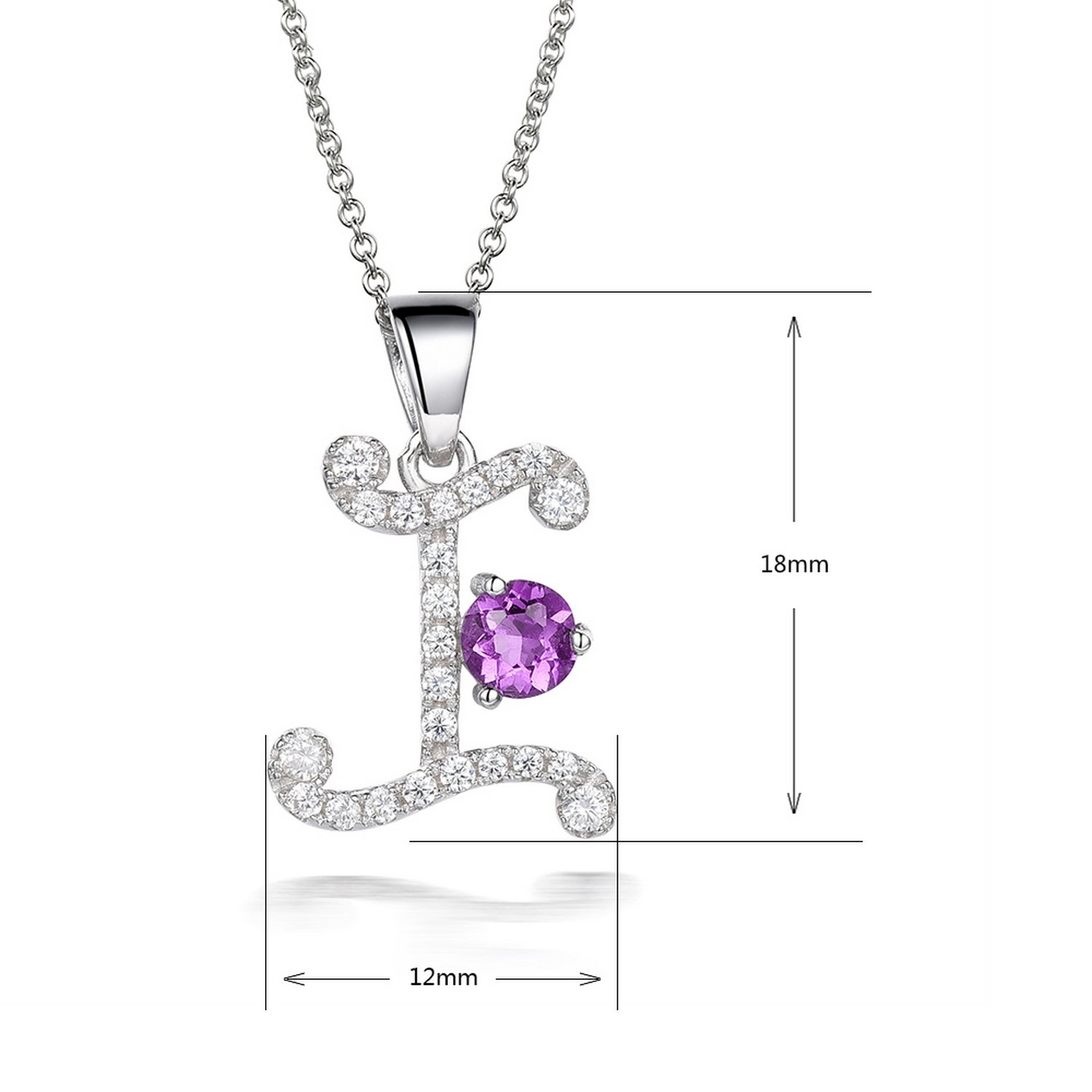 MMC 0.87ct Gemstones Charm I Silver Pendants Necklaces