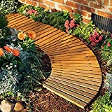Plow & Hearth 52128 Roll Out Wooden Curved Garden