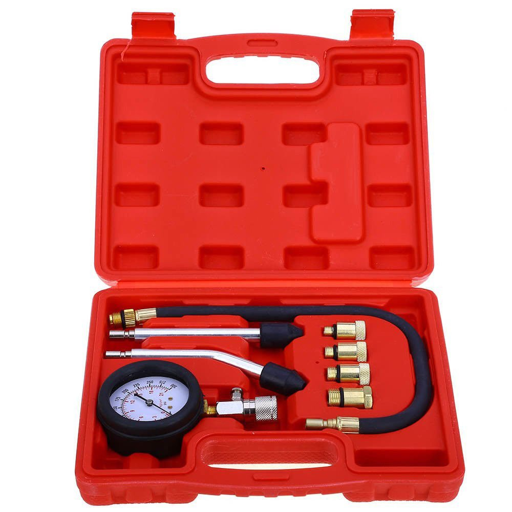 KANING Fuel Pump & Vacuum Tester Carburetor Valve Pressure Tester Gauge Kit Car Truck