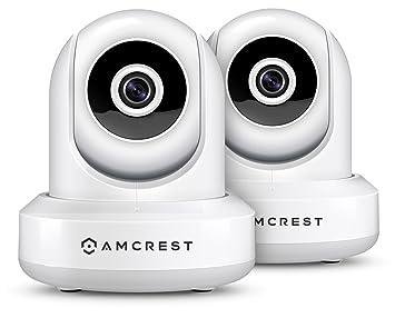 2-Pack Amcrest ProHD 1080P WiFi/Wireless IP Security Camera IP2M-841  Pan/Tilt, 2-Way Audio, Optional Cloud Recording, Full HD 1080P 2MP, Super  Wide