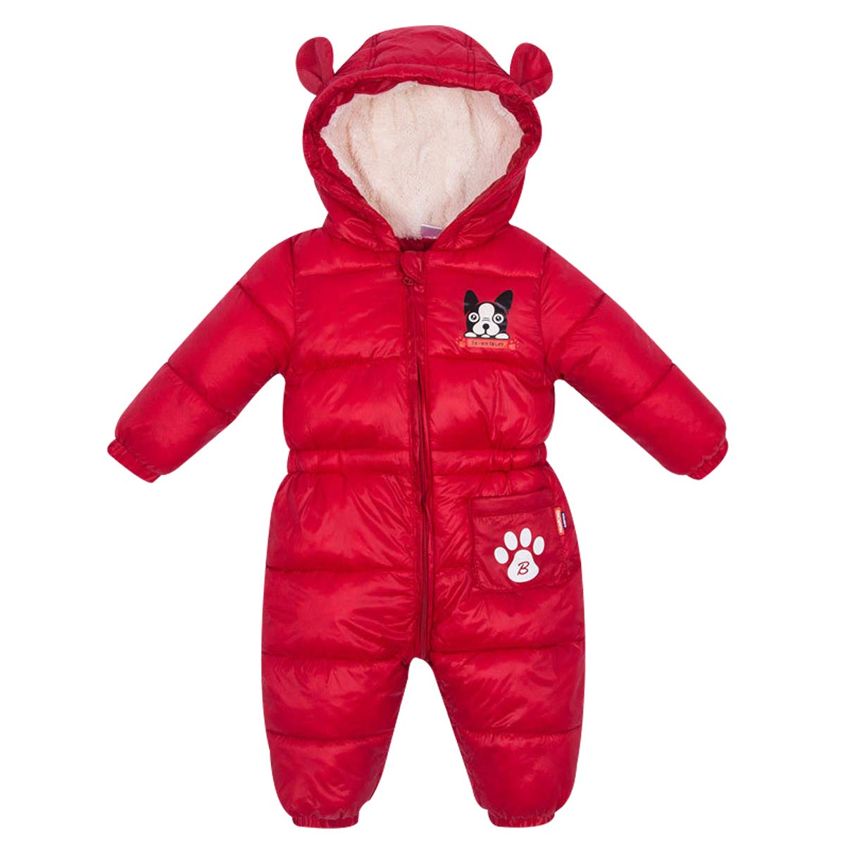 Famuka Baby Boys Girls Winter Snowsuit Hooded Warm Outerwear Romper