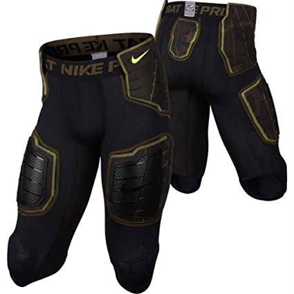 8b642f012dd Image Unavailable. Image not available for. Color  Nike Pro Combat 3 4 Hyperstrong  Compression Hard Plate Padded Black ...