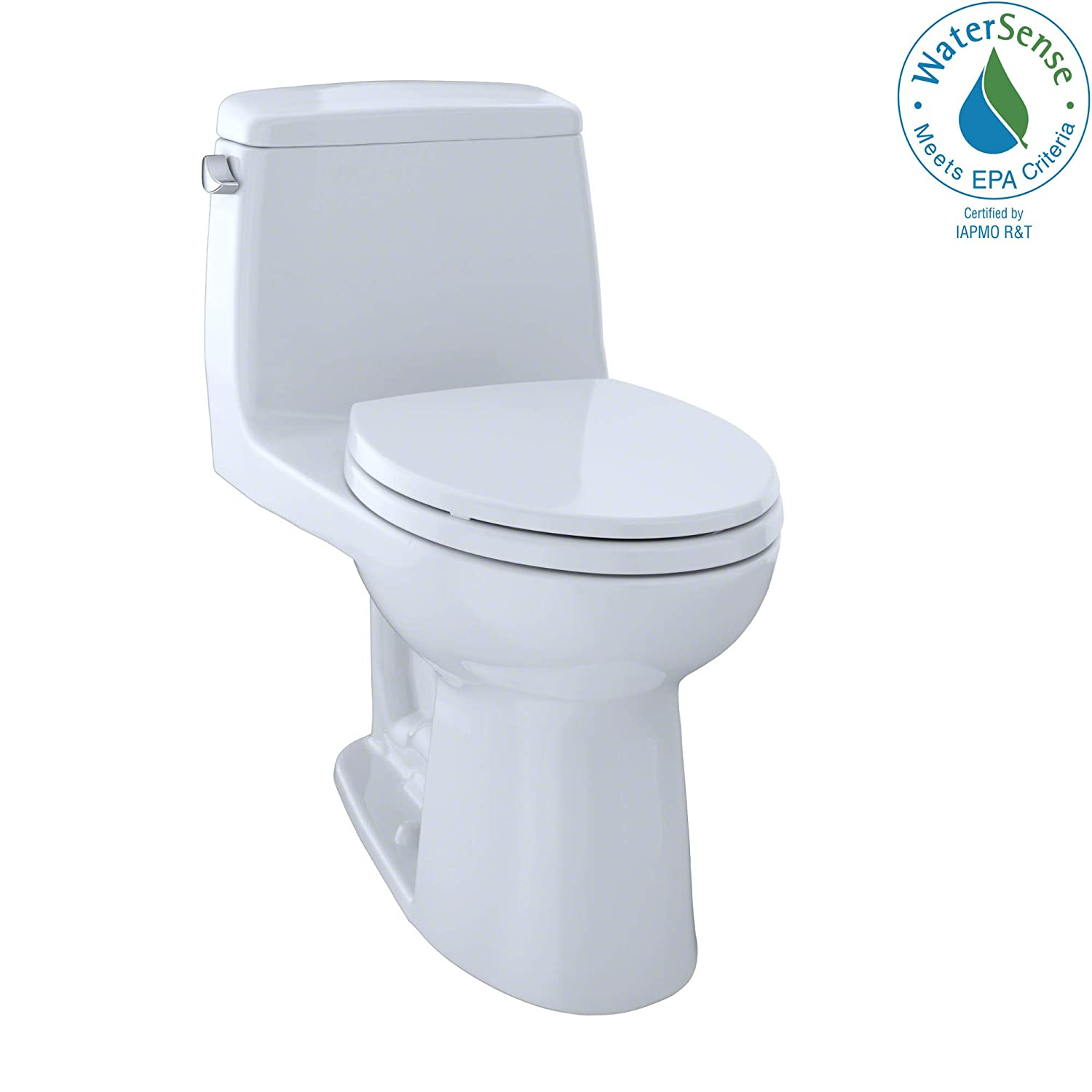 TOTO MS854114EG#01 Eco Ultramax Elongated One Piece Toilet with Sanagloss, Cotton White