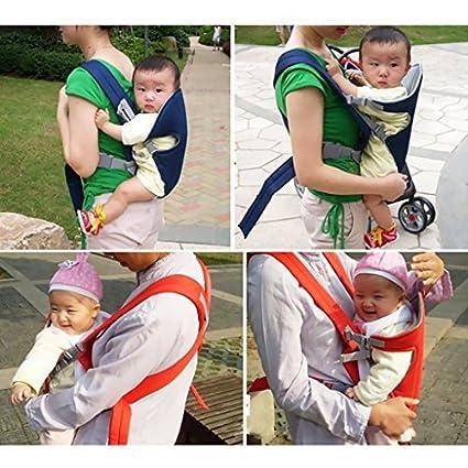 Transpirable bebé portabebés ergonómico ajustable Wrap recién nacido bebé mochila frontal llevar – cielo azul,