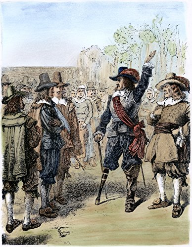 Arrival Of Stuyvesant 1647 Nthe Arrival Of Peter Stuyvesant At New Amsterdam 27 May 1647 Following His Appointment As Governor Of The Colony Of New Netherland Wood Engraving American 1878 Poster Print