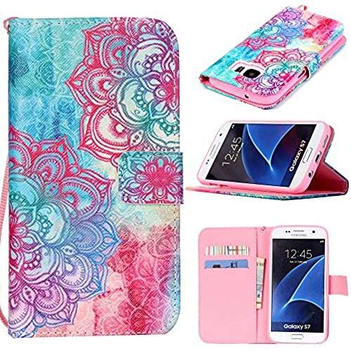 S7 Case, Galaxy S7 Case, Harryshell(TM) Lace Flower Wallet Folio Leather Flip Case Cover with Card Holder for Samsung Galaxy S7 Sales