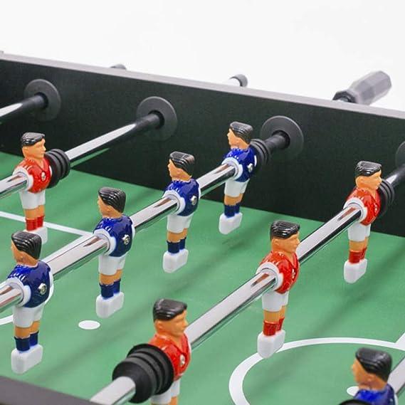 Devessport - Futbolín Salón Negro Ideal para Jugar con Amigos - Profesional - Barras de Metal - Mango de plástico - Retorno de Bolas - Dispone de marcadores - Medidas: 140 x 74 x 88 Cm: Amazon.es: Juguetes y juegos