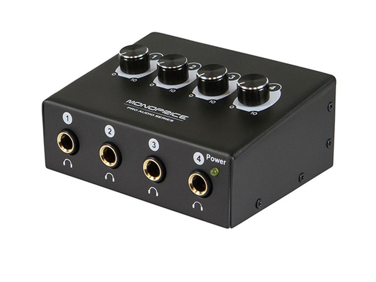 Monoprice 615220 4-Channel Headphone Amplifier