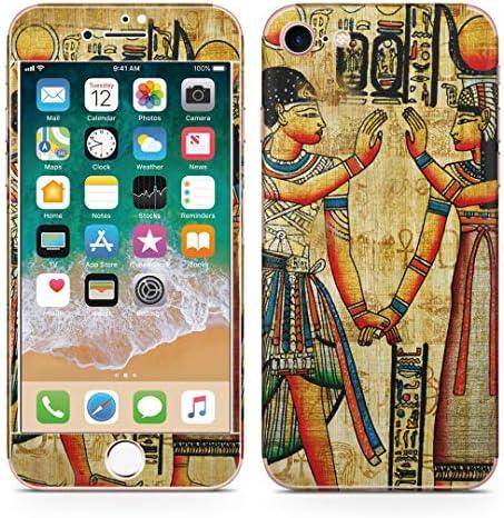 igsticker iPhone SE 2020 iPhone8 iPhone7 専用 スキンシール 全面スキンシール フル 背面 側面 正面 液晶 ステッカー 保護シール 001535 写真・風景 エジプト 壁画