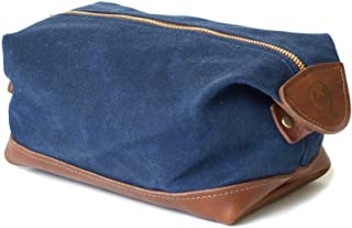 product image for DOPP Kit Toiletry Bag, Shave Kit in Waxed Navy Canvas, Great for Travel