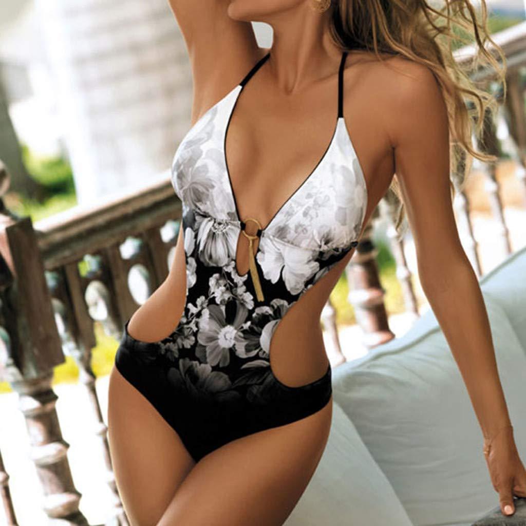 Zolimx Costume da Bagno Donna Intero,Costumi da Bagno Interi Donna Ragazze Coordinati Beachwear Spiaggia Beachwear Donna Intero
