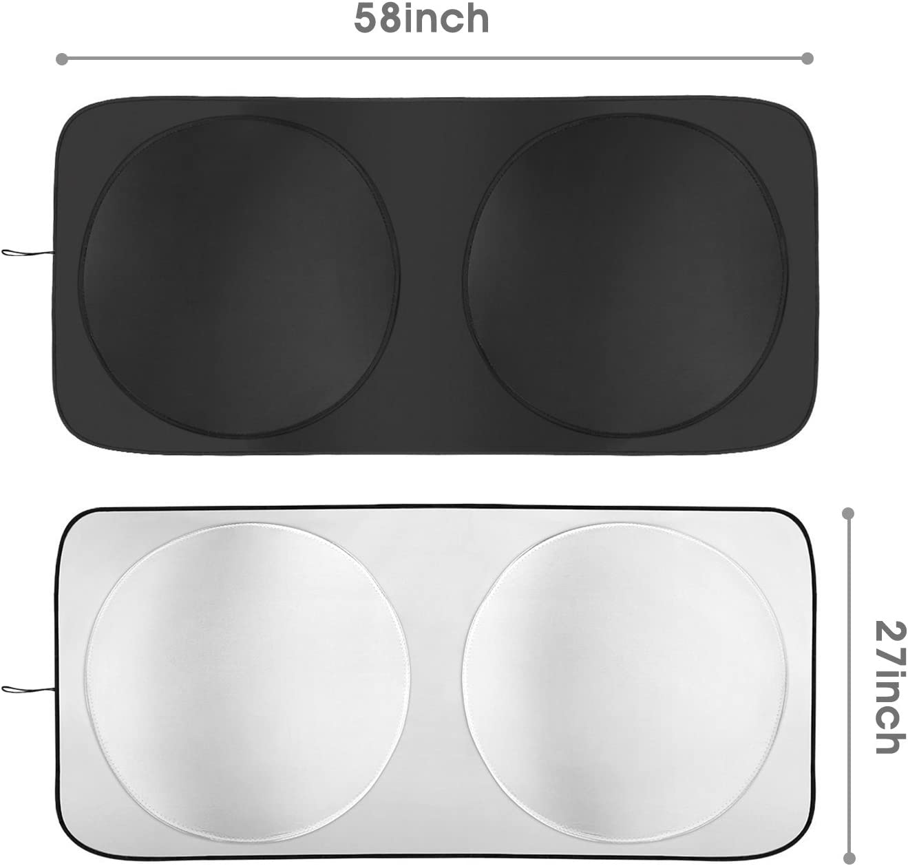 Sunshades for SUV Truck Car Windshield Cover Car Windshield Sun Shade Universal Fit GearLiv Windshield Shade Ford F150 Front Windshield Window