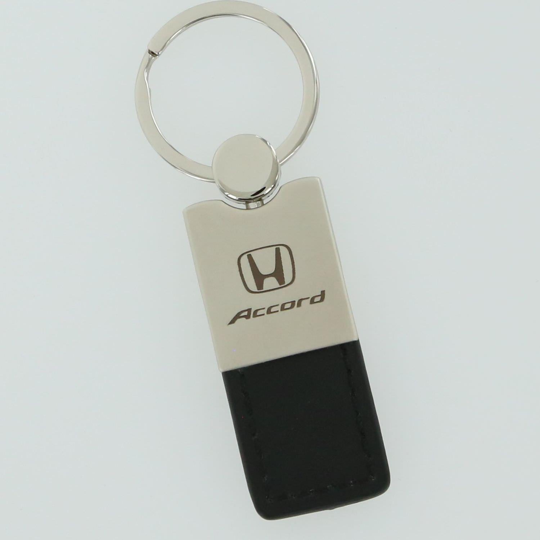 Honda Civic Duo Black Leather Key Chain Au-Tomotive Gold INC
