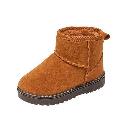cab9d2c748afdf uirend Schuhe Stiefel Stiefeletten Kinder - Jungen Mädchen Comfort Warmen  Netten Veloursleder Schnee Aufladungen
