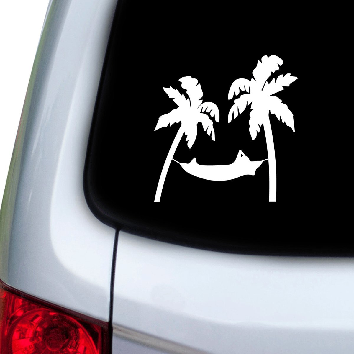 Doors White StickAny Car and Auto Decal Series Palm Hammock Sticker for Windows Hoods