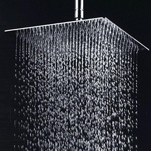 TANBURO Rainfall Stainless Slimline Showerhead
