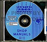 A MUST FOR OWNERS, MECHANICS & RESTORERS - THE 1933 1934 PONTIAC FACTORY REPAIR SHOP & SERVICE MANUALCD INCLUDES Roadster, Touring, Sport, Convertible, & Standard. 33 34