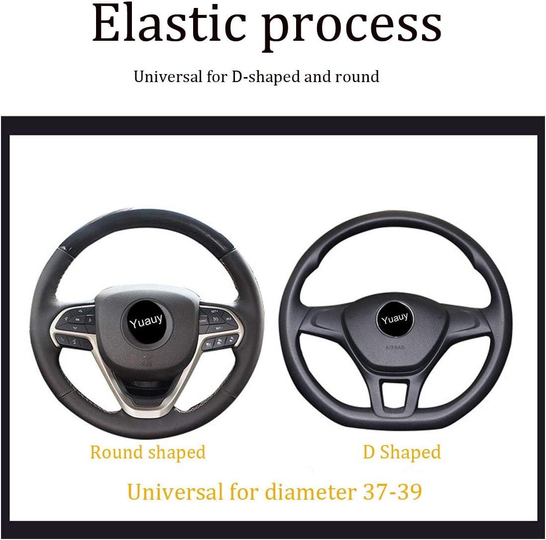 Yuauy Microfiber Leather Steering Wheel Covers Anti-Slip Universal Car Steering Wheel Cover