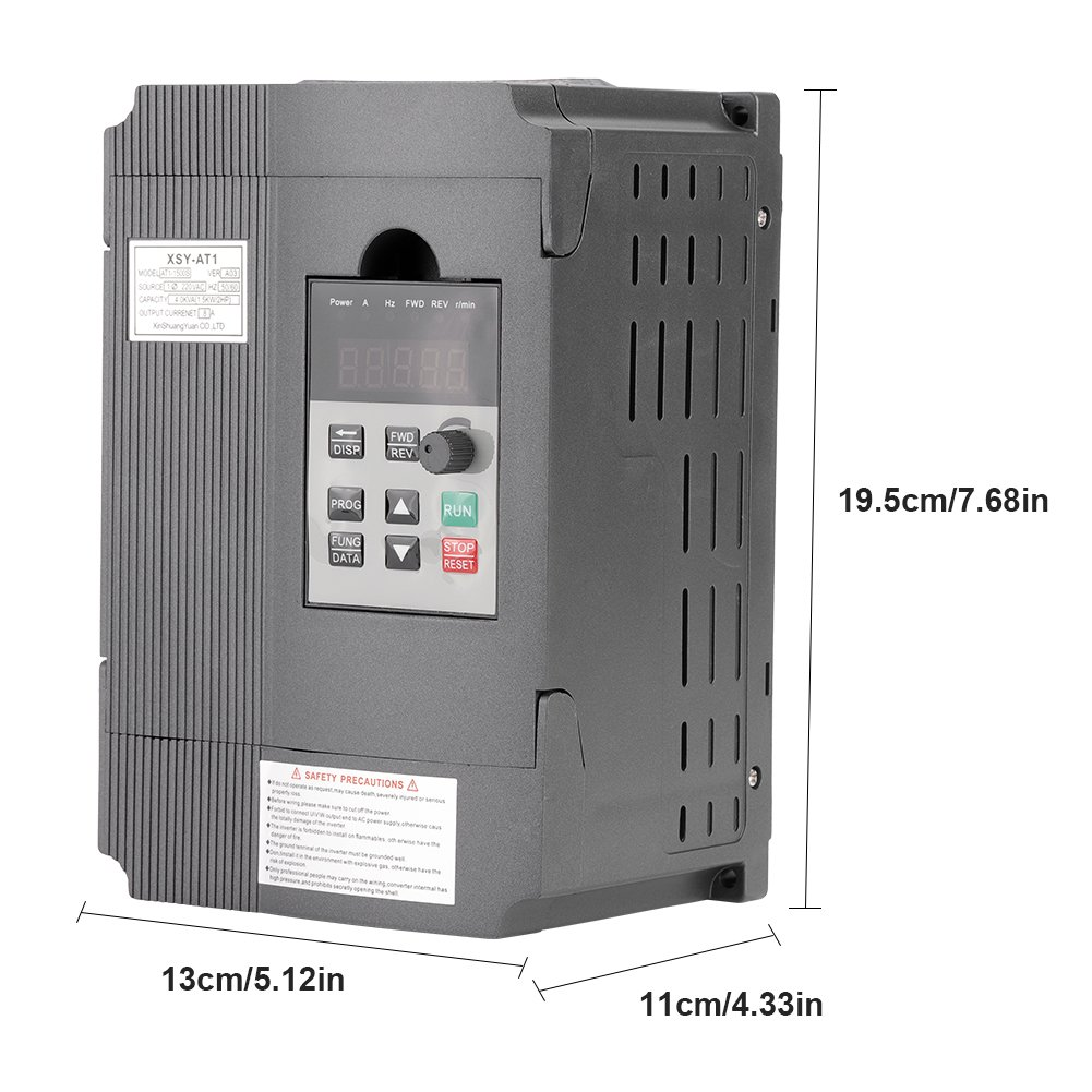 Hilitand AT1-1500S 1,5kW AC 220V Universalfrequenz Variabler Frequenz Variabler Frequenzumrichter VFD f/ür Drehstrommotor