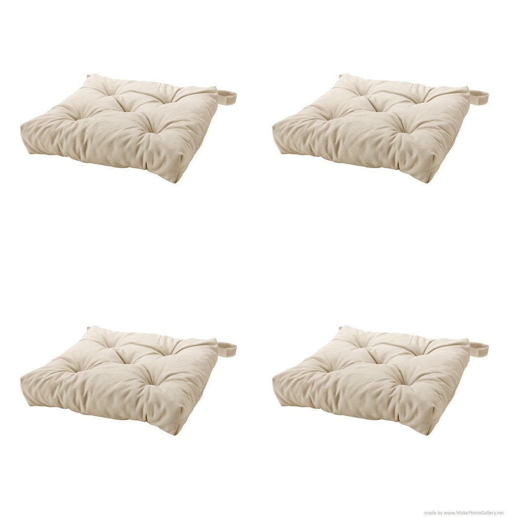 Ikeas MALINDA Chair cushion, light beige-4 Pack by IKEA