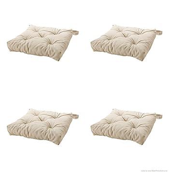 Amazon.com: Ikea Malinda - Cojín para silla, color beige ...
